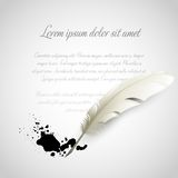 Feather Pen. Vector illustration Stock Image