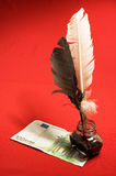 Feather quill Royalty Free Stock Image