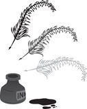 Feather Quill Stock Images