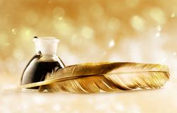 Feather quill Royalty Free Stock Photography