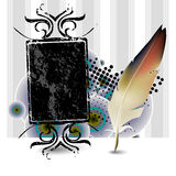 Feather, quill Stock Image