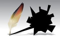 Feather, quill vector illustration