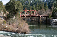 Feather River Bridge at Belden Town Royalty Free Stock Photo