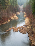 Feather River Canyon in Winter Royalty Free Stock Images