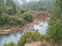 Feather River Canyon in Winter. Winter in the Feather River Canyon in Northern California Stock Photo