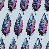 Feather seamless background Stock Image