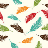 Feather seamless background. Vector illustration Stock Photography