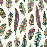 Feather seamless pattern background. Feather textile pattern. Royalty Free Stock Image