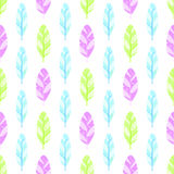 Feather seamless pattern. Bird background abstract vector illustration