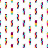 Feather seamless pattern, typography, t-shirt graphics, vectors. Eps 10 Stock Image