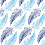 Feather Seamless Pattern, Vector Royalty Free Stock Images