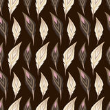 Feather seamless pattern Royalty Free Stock Image