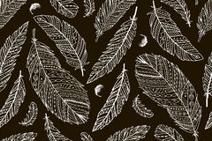 Feather seamless pattern for your design Royalty Free Stock Images