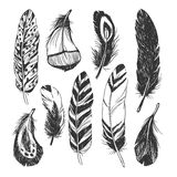 Feather set in Native American Indian style. Stock Photography