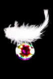 Feather and soap bubbles Royalty Free Stock Photos
