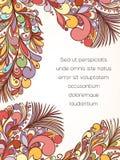 Feather style invitation card Stock Photo