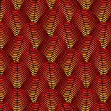 Feather styled background with curved lines styled as exotic bird plumage pattern Stock Images