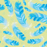 Feather vector seamless pattern Royalty Free Stock Images