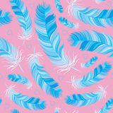 Feather vector seamless pattern Stock Image
