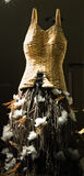 Feathered Mannequin. Storefront accessory mannequin made of wicker, twigs and feathers Stock Images