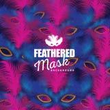 Feathered mask background Royalty Free Stock Photography