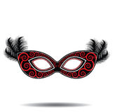 Feathered mask Royalty Free Stock Photos