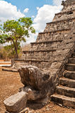 Feathered Serpent, Chichen Itza Royalty Free Stock Image