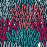 Feathers birds seamless Stock Image