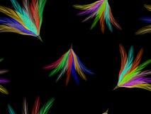 Feathers fan seamless pattern Stock Photo