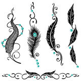 Feathers, indian Royalty Free Stock Images