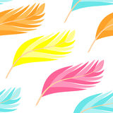 Feathers pattern seamless Royalty Free Stock Image