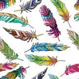 Feathers pattern Stock Photo