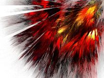 Feathers of the Phoenix bird. Fractal resembling to firelike feathers of a bird Stock Photo