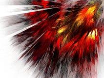Feathers of the Phoenix bird Stock Photo