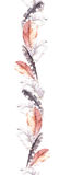 Feathers. Repeated border frame. Watercolour strip Royalty Free Stock Images