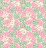 Feathers seamless ornate pattern  Abstract backgro Royalty Free Stock Photos
