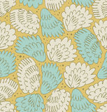 Feathers seamless ornate pattern. Abstract background with plums. Decorative texture with fuzz. Wings Stock Photography