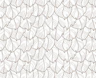 Feathers seamless pattern. Vector illustration Royalty Free Stock Images