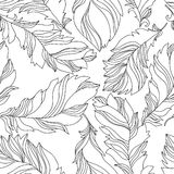Feathers seamless pattern Stock Photo