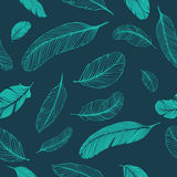 Feathers seamless pattern. Feathers seamless texture. Vector decoration for prints vector illustration