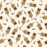 Feathers seamless pattern Stock Photography