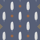 Feathers Seamless Pattern Royalty Free Stock Photos