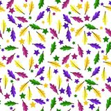 Feathers and Stars Seamless Pattern stock photography