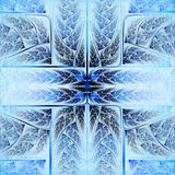 Feathery blue and vivid cross Royalty Free Stock Photos