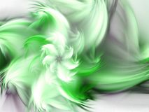 Feathery green fractal flower vector illustration