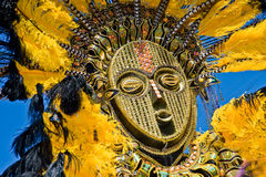 Feathery carnival mask stock image