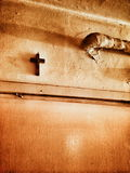 Feature domestic crucifixes. Artistic look in vintage vivid colours. Stock Photo