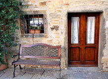 Feature old house. Exterior of house in the italian village Royalty Free Stock Photos