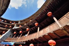 Featured constructure of Earth Castle inside, South of China Stock Photos