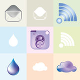 Featured modern camera icons Stock Images